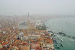 venice from air, italy